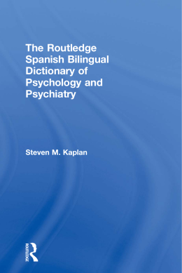 The Routledge Spanish Bilingual Dictionary of Psychology