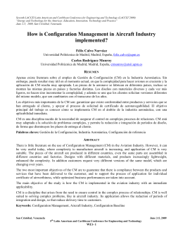 How is Configuration Management in Aircraft Industry