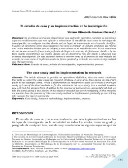 141 El estudio de caso y su implementación en la investigación The