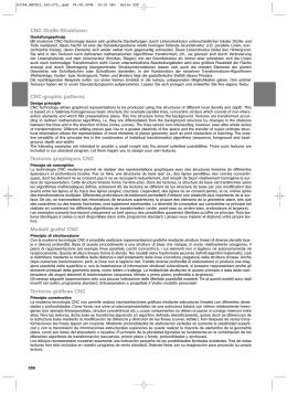 CNC-Grafik-Strukturen CNC-graphic patterns Textures graphiques