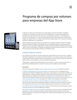 Programa de compras por volumen para empresas del App