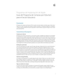 Guía del Programa de compras por volumen para centros