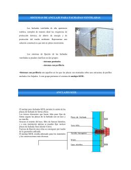 sistemas de anclaje para fachadas ventiladas anclajes