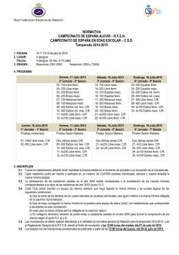 Campeonato de España alevín - Real Federación Española de
