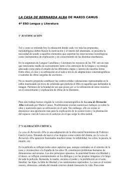 LA CASA DE BERNARDA ALBA DE MARIO CAMUS