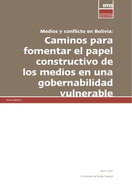 Medios y conflicto en Bolivia