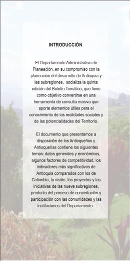 Inventario de Antioquia y las Subregiones