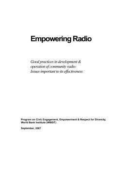 Empowering Radio