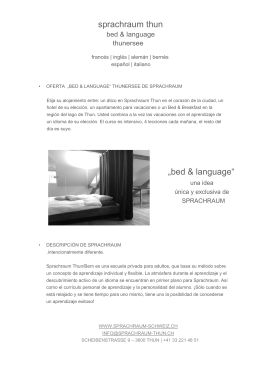 "sprachraum thun ""bed & language"""
