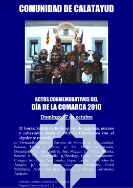 Cartel cabezudos bueno word - Comarca Comunidad de Calatayud