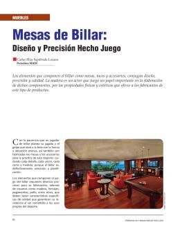 Mesas de Billar: - Revista El Mueble y La Madera