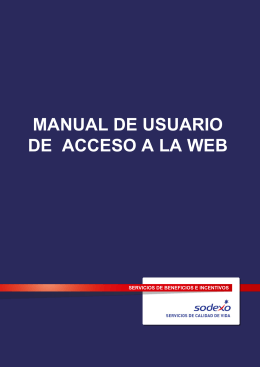 MANUAL DE USUARIO DE ACCESO A LA WEB
