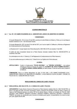 ORDEN GENERAL No. 224 DEL COMANDO GENERAL DE LA