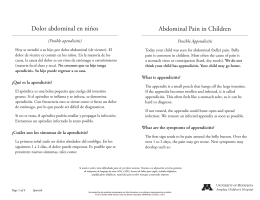 Abdominal Pain in Children Dolor abdominal en niños