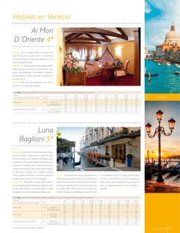 Hoteles en Venecia Ai Mori D´Oriente 4* Luna Baglioni 5*