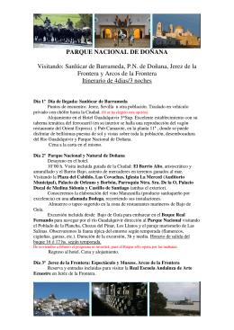 PARQUE NACIONAL DE DOÑANA Visitando: Sanlúcar de
