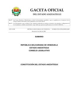 Constitución del Estado Anzoátegui
