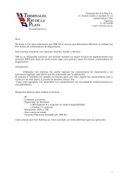 Argentina Te: 4319-9500 e-mail