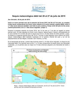 Informe 6 Sequía meteorológica 2015