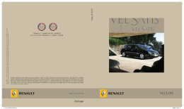 Catálogo del Renault Vel Satis en pdf