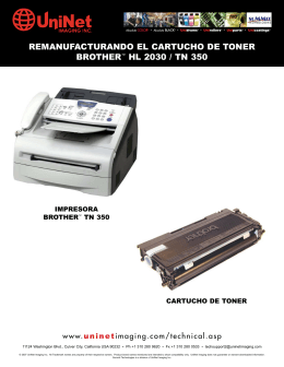 REMANUFACTURANDO EL CARTUCHO DE TONER BROTHER