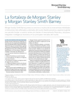 La fortaleza de Morgan Stanley y Morgan Stanley Smith Barney