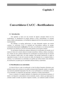 Convertidores CA/CC - Rectificadores