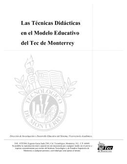 Las Técnicas Didácticas en el Modelo Educativo del Tec de Monterrey