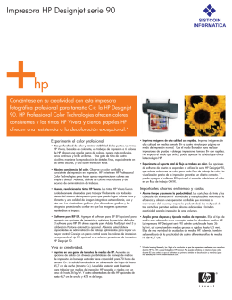Impresora HP Designjet serie 90