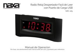 Radio Reloj Despertador Facil de Leer con Puerto de