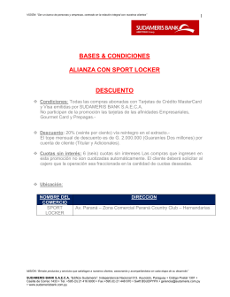bases & condiciones alianza con sport locker
