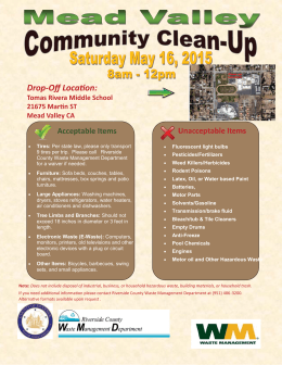 Drop-Off Locaon: - Riverside County Waste Management Department