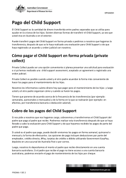 Child Support - Spanish - Department of Human Services