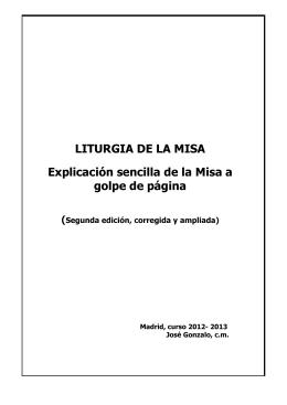 LITURGIA DE LA MISA