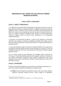 Texto aprobado. - Ayuntamiento de Motril