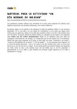 "MATERIAL PARA LA ACTIVIDAD ""UN D  A NORMAL DE MR.BEAN"""