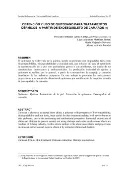 obtención y uso de quitosano para tratamientos dérmicos a partir