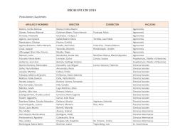 BECAS EVC CIN 2014 Postulantes Suplentes