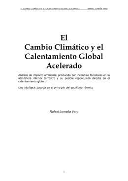 El Cambio Climático y el Calentamiento Global Acelerado