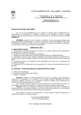 3 de Julio - Ayuntamiento de Villamiel de Toledo
