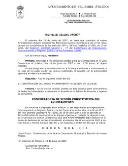 16 de Junio - Ayuntamiento de Villamiel de Toledo