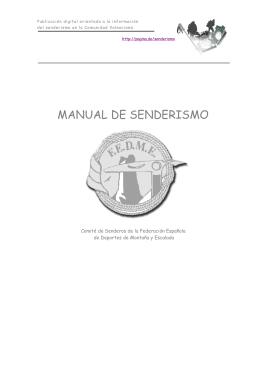 MANUAL DE SENDERISMO