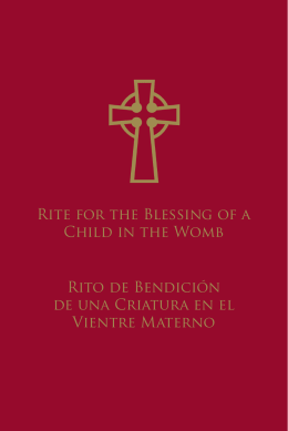 RitE FoR thE BlEssinG oF A ChilD in
