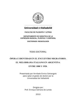 TESIS DOCTORAL: - UVaDOC - Universidad de Valladolid