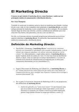 El Marketing Directo