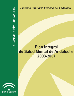 Plan Integral de Salud Mental de Andalucía 2003