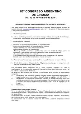 Descargar el reglamento - Asociación Argentina de Cirugía