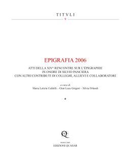 EPIGRAFIA 2006