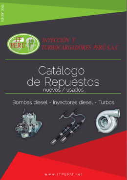 CATALOGO REPUESTO 2013 - inyeccion y turbocargadores peru sac