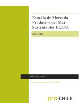 2012 Estudio de Mercado Productos del Mar Sustentables